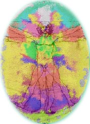 Auric human energy field of colors