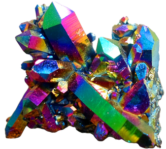 Healing rainbow coloviolet quartz crystal